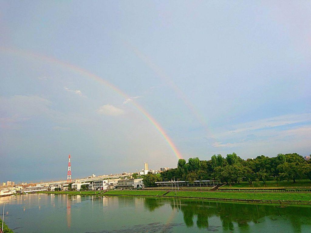 虹のおすそわけ