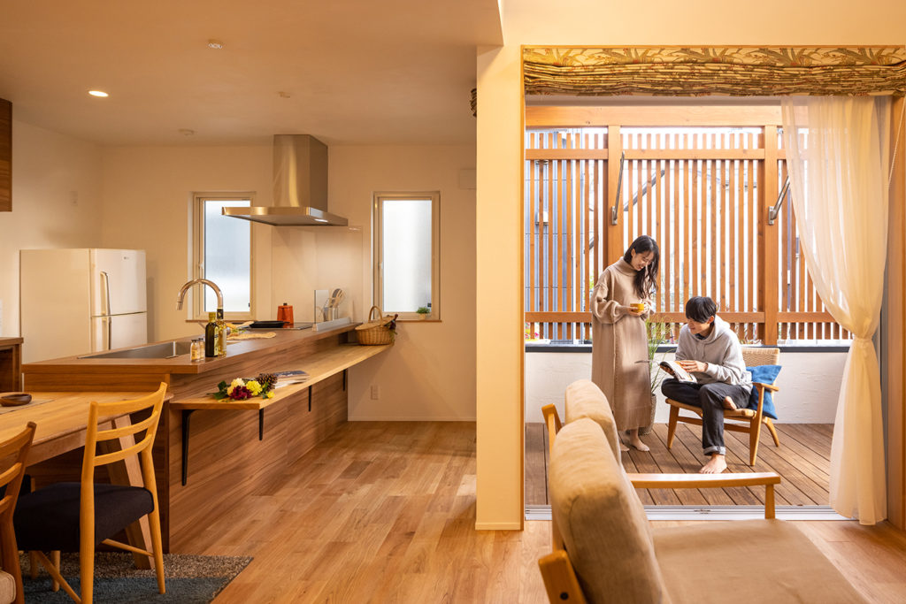 【袖ヶ浦市】スキップフロアとプライベートテラスを愉しむ家
