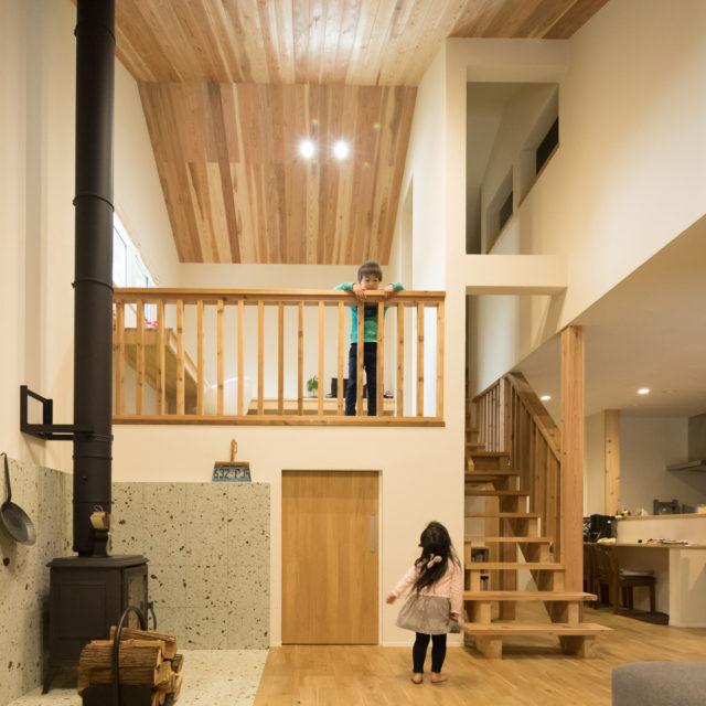 スキップフロア×薪ライフを楽しむ平屋の家
